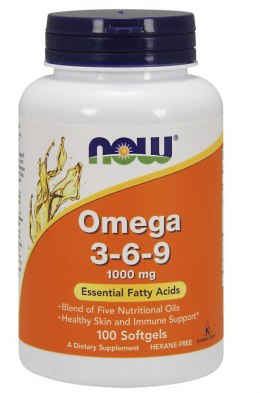 NOW FOODS Omega 3-6-9 1000mg, 100sgels.