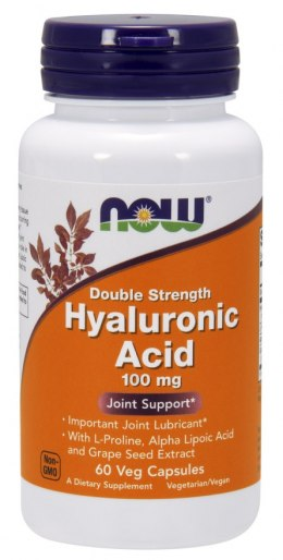 Hyaluronic Acid (kwas hialuronowy) 60 kaps. NOW FOODS