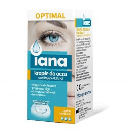 Krople do oczu IANA OPTIMAL nawilżające 0,1 % HA 10 ml STARPHARMA