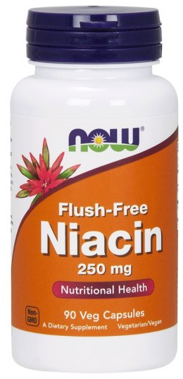 Niacin Flush-Free (niacyna, B3) 90 kaps. NOW FOODS