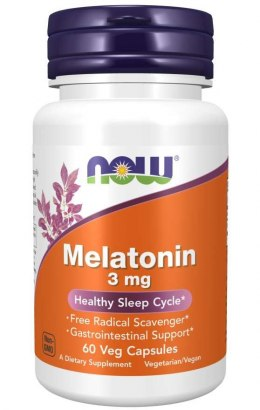 Melatonina 3 mg 60 kaps. NOW FOODS